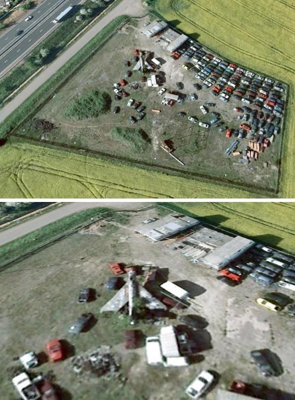 Lightning Google Earth1 The A1 Lightning: Britains Most Famous Derelict Fighter Plane