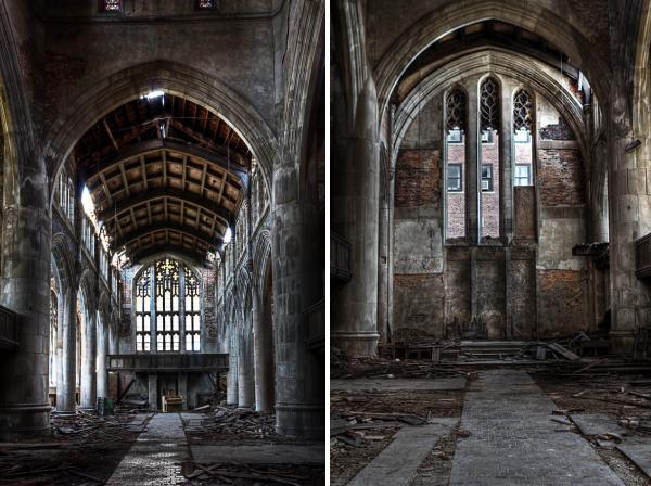 gary abandoned church interior Gary, Indiana: 8 Amazing Abandonment Images