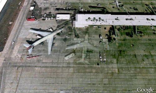 Ghostly 747 captured on Google Earth