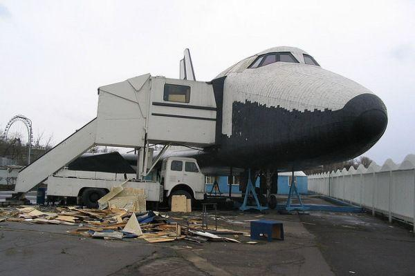 abandoned russian space shuttle Buran