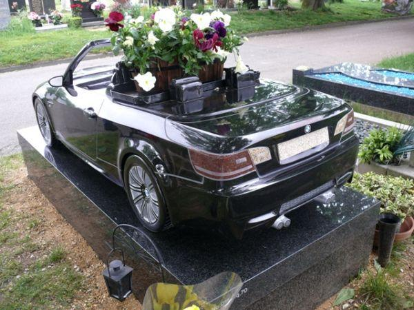 London Man Takes BMW Convertible to the Grave