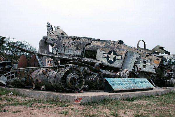 Wrecked F-4 Phantom Fighter, Hanoi