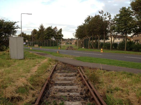 End of the Line: Disused Railway Disappears into Leuchars Military Base