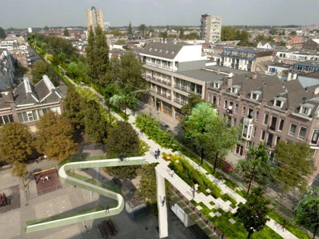 De Hofbogen: Rotterdam's Hofplein Viaduct to Become Linear Urban Park