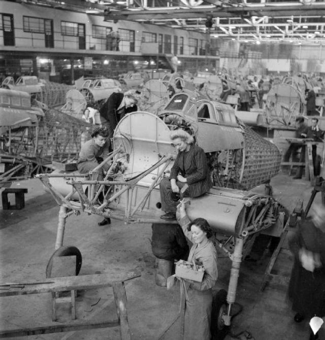 On the Hawker Hurricane Production Line in 1942