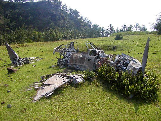 Wrecked Mitsubishi A6M Zero Fighter, Pagan Island, Northern Marianas