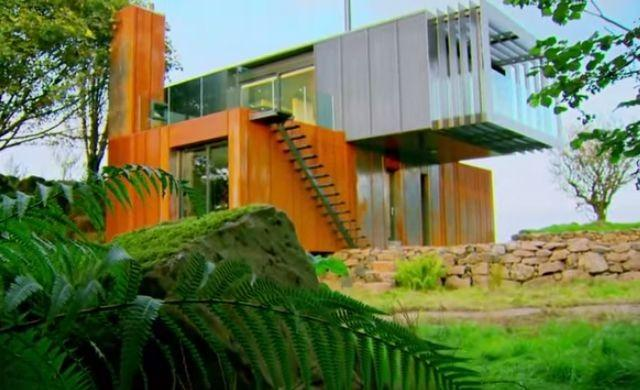 Upcycled Shipping Containers Used to Create Stylish Modern Home