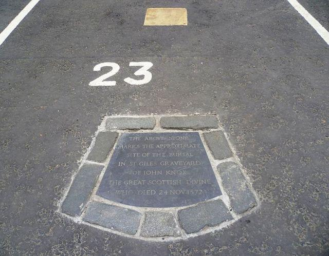 Visit John Knox Grave In Parking Space No 23