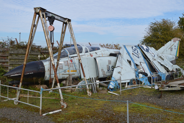 The Dismantled Hulk of Phantom F-4C 63-7414 at the Midland Air Museum