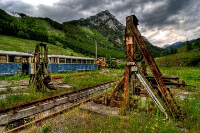 Erzberg Railway: Old Locomotives at Vordernberg Station, Austria