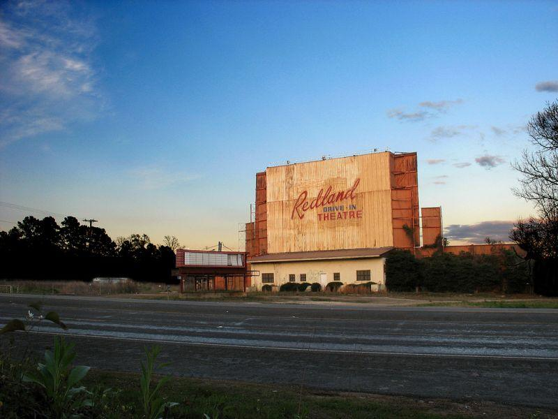 abandoned drive in movie theater