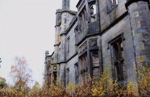 abandoned ruins of Dunmore Park House near Falkirk