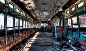 Inside an Abandoned New York City Trolley (Red Hook, Brooklyn)