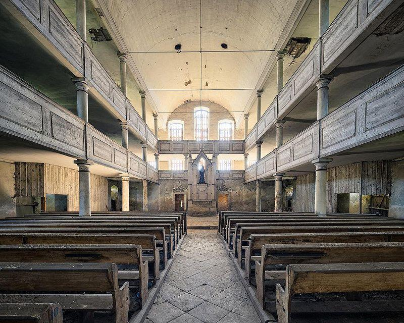 inside the abandoned Church on the Hill 2