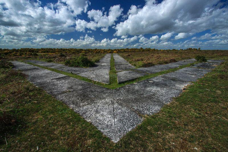 Abandoned Navigation Arrow on Ashley Walk Bombing Range