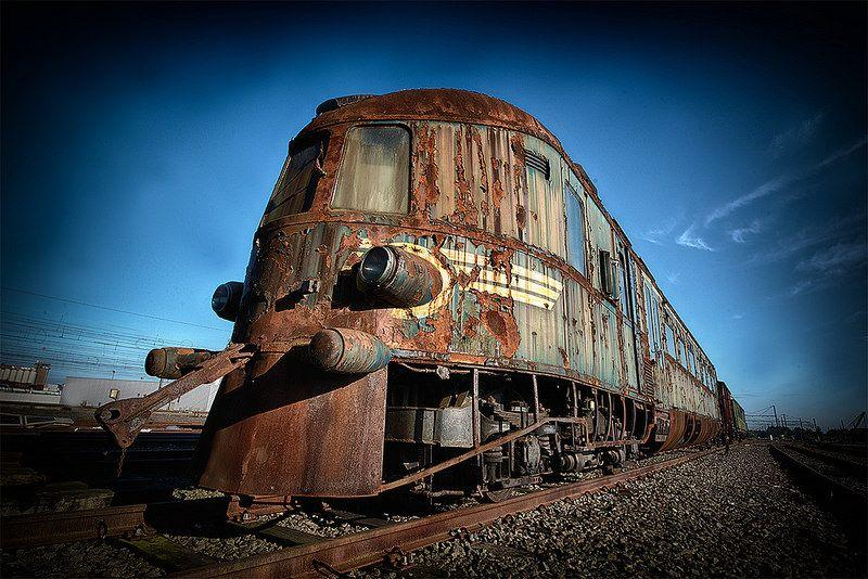 Abandoned Orient Express train in Belgium 5