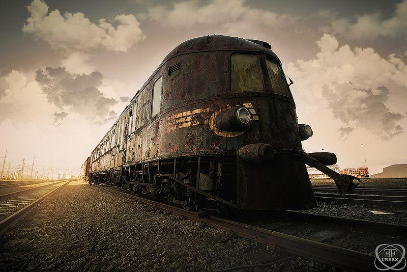 Abandoned Orient Express train in Belgium 6