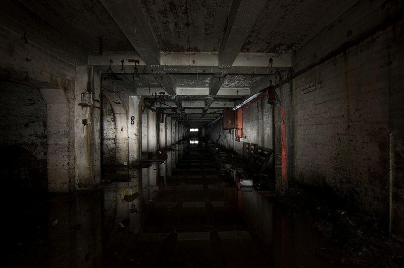 Abandoned tunnels of the Second World War GKN 'shadow factory' beneath Birmingham