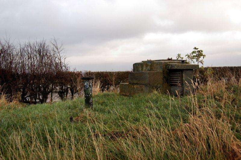 abandoned Royal Observer Corps Ponteland ROC Post in Northumberland