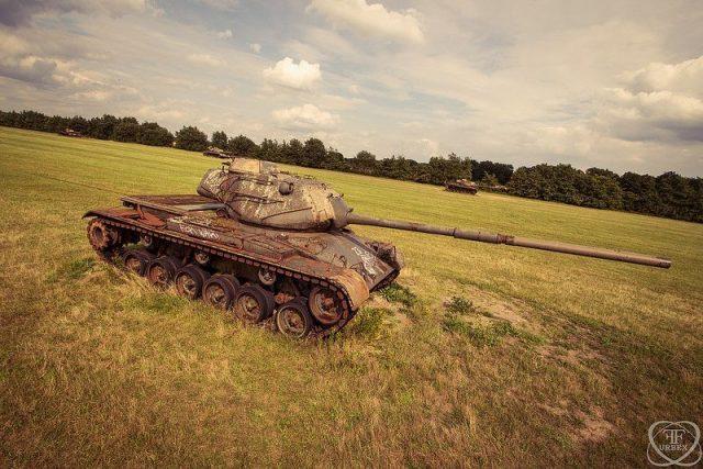 Abandoned Tanks Guard the Farmland