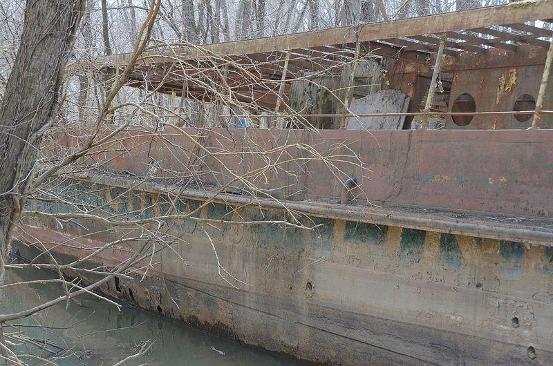Rotting remains of the USS Phenakite, later renamed Circle Line V