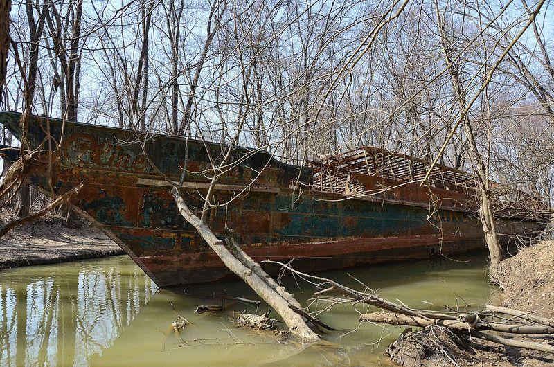 Celt, the Ohio River's ghost ship wreck, was known as USS Sachem and Phenakite, and latterly Circle Line V
