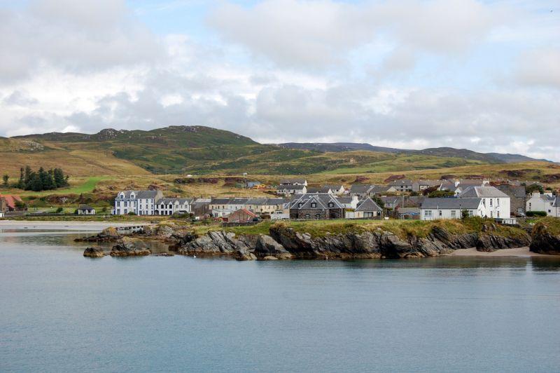 Port Ellen on the remote Scottish island of Islay