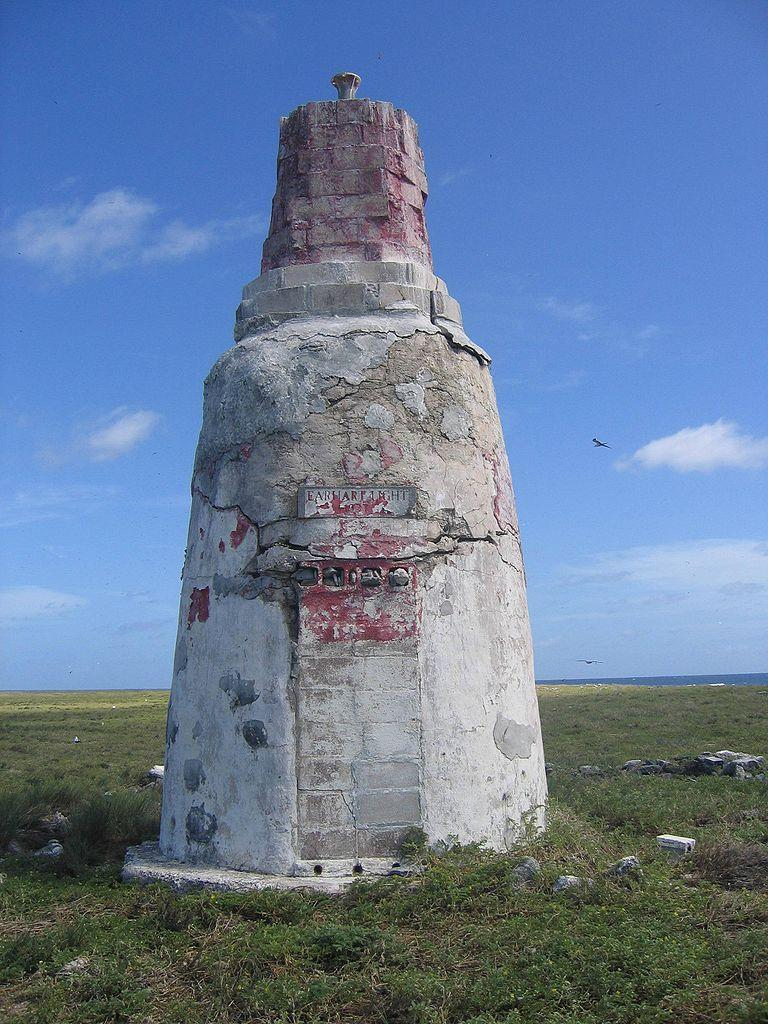 The Earhart Light of Howland Island in the Phoenix Islands