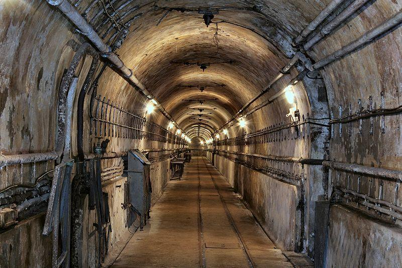 Tunnels built within the Maginot Line defensive system
