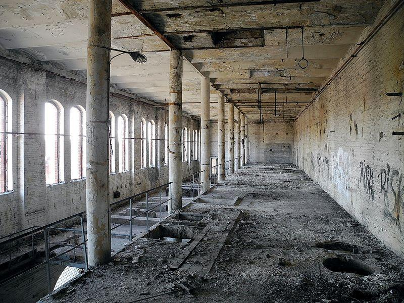 Inside Bärenquell Brauerei, an abandoned brewery in Berlin