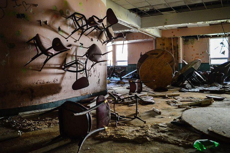 A derelict resort in the Catskills, New York