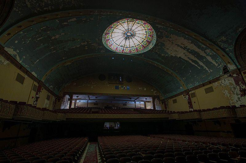Architectural splendour: the silent auditorium of an abandoned Masonic Temple