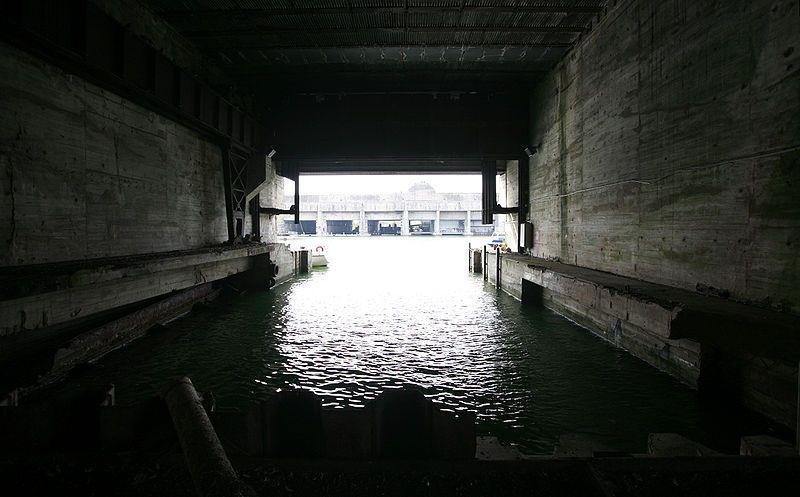 Inside the abandoned U-boat pens of Saint-Nazaire built during World War Two