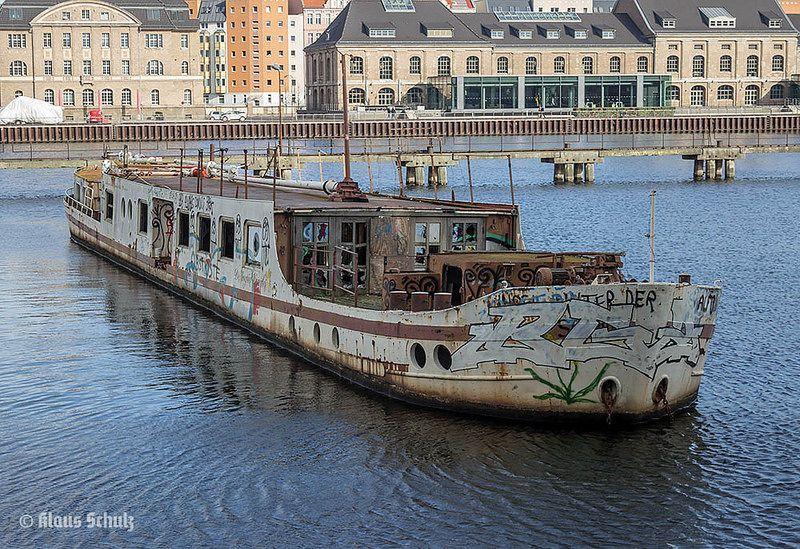 The wreck of MS Dr. Ingrid Wengler in Berlin