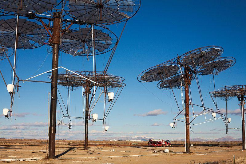 Defunct Delta Solar Project: An abandoned solar farm in the Utah desert, USA