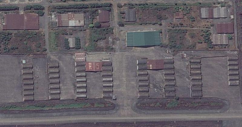 Neglected hangars at Bien Hoa Air Base