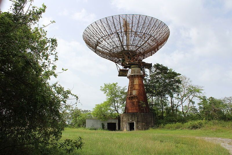 The abandoned Macqueripe Missile Tracking Station in Chaguaramas, Trinidad and Tobago