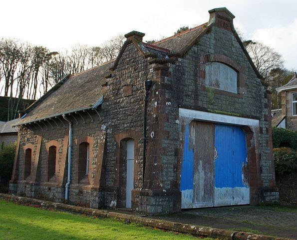Disused Quarry Green Lifeboat Station at Campbeltown, Scotland