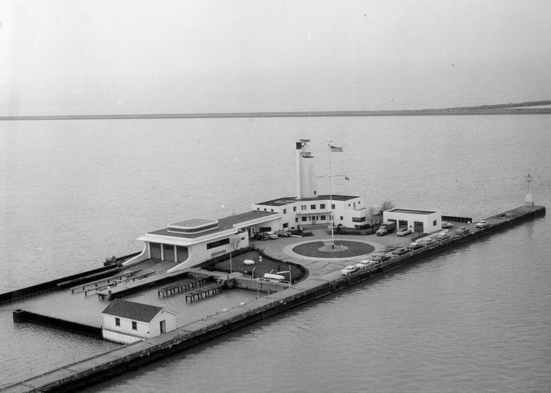 The historic Whiskey Island Coast Guard station at Cleveland, Ohio