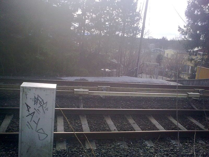 Abandoned Nordberg ghost station in Oslo, Norway