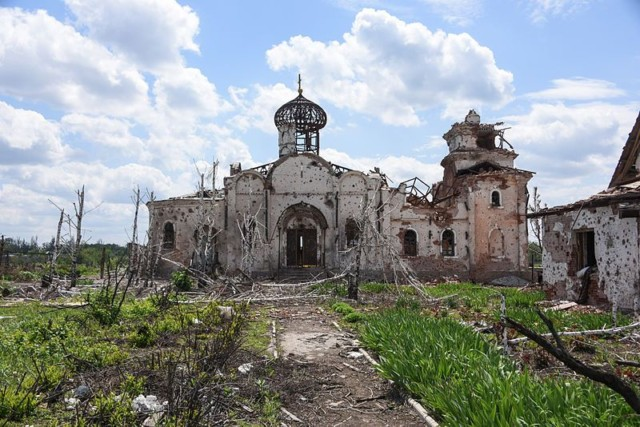 The Shattered Ruins of Iversky Monastery, Donesk