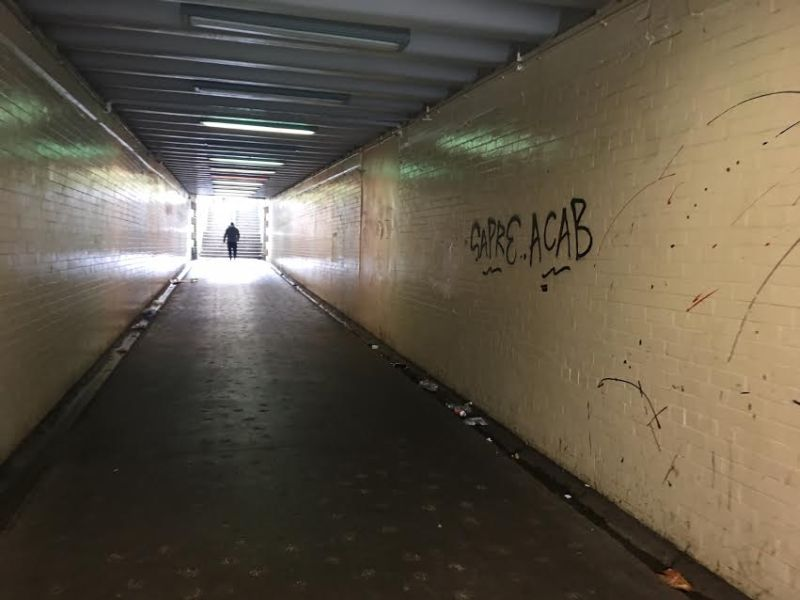 The Telfer Subway beneath Edinburgh's Western Approach Road was built during the mid 19th century by the Caledonian Railway to allow access to Dalry Road station, now closed.