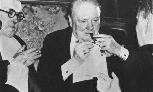 Winston Churchill's Half-Smoked Cigar Sells for $12,000