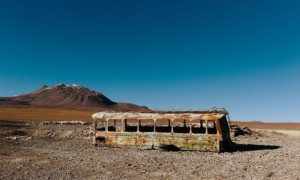 Abandoned School Bus Near San Pedro de Atacama