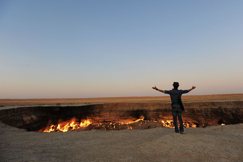 "Visitors to the Door to Hell in the Karakum Desert report ""mixed emotions"", including spiritual experiences."