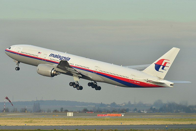9M-MRO, the Boeing 777 that disappeared in 2014 while operating as Malaysia Airlines flight MH370.